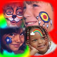 face painting birthday kid's parties schools camps
